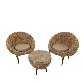Seminyak Rattan Set- 3 Pieces For Sale