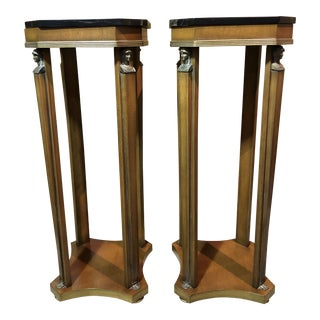Vintage Italian Neoclassical Style Pedestals - a Pair For Sale