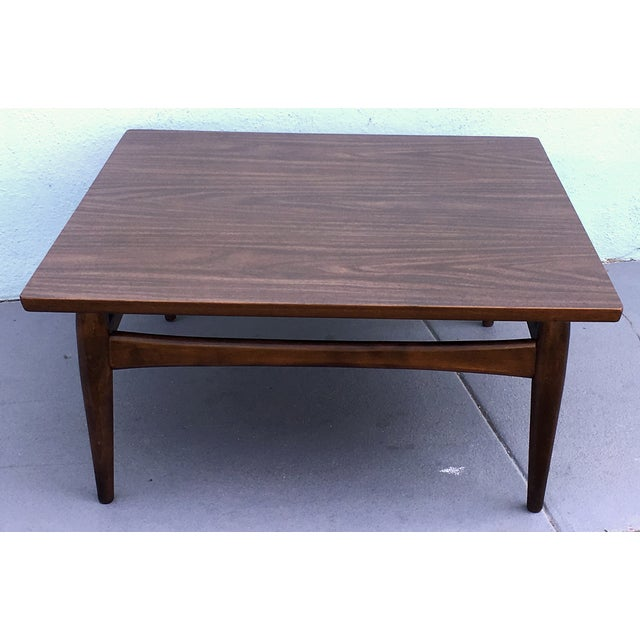 Square Mid-Century Modern Coffee Table - Image 7 of 7