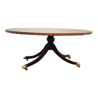Keene Mahogany Claw Foot Cocktail Table by Councill For Sale