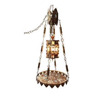 Hollywood Regency Boho Chic Moroccan Chandelier Swag Table Lamp For Sale