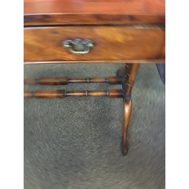 English English Antique Mahogany Regency Sofa Table For Sale - Image 3 of 5