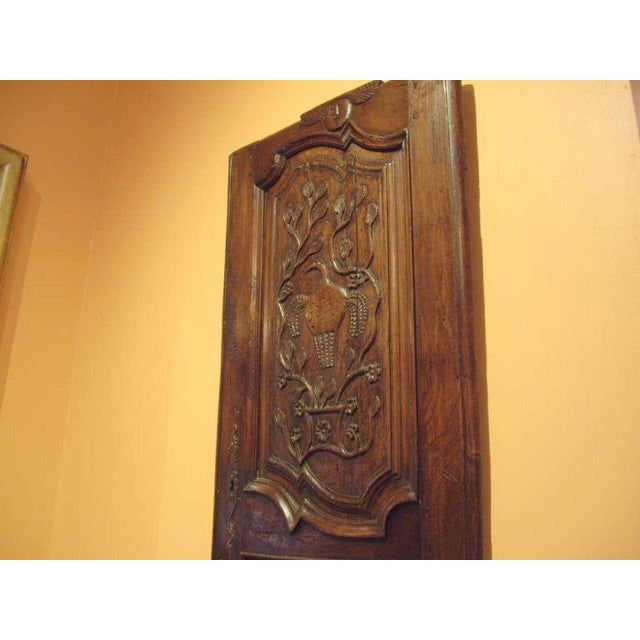French Provincial 18th C. French Provincial Wood Carved Door Panel For Sale - Image 3 of 8