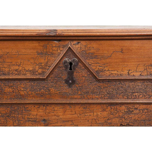 French 18th Century French Louis XIII Walnut Trunk For Sale - Image 3 of 12