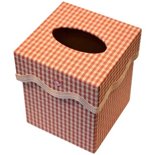 Gingham Tissue Box Cover For Sale