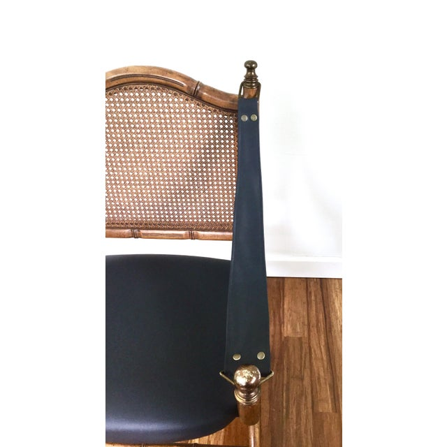 Drexel Faux Bamboo & Cane Chair For Sale - Image 5 of 6