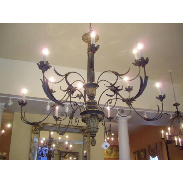 Italian Very Large Late 18th/19th Century Italian Chandelier For Sale - Image 3 of 11