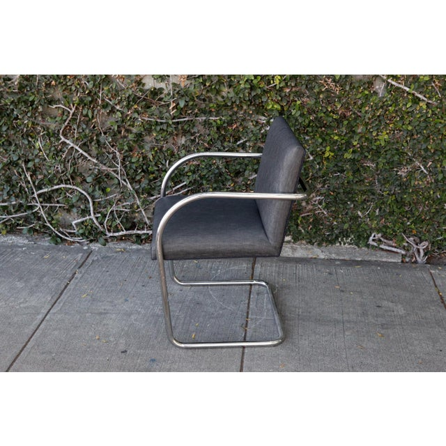 Modern Chrome Base Chair For Sale - Image 4 of 7