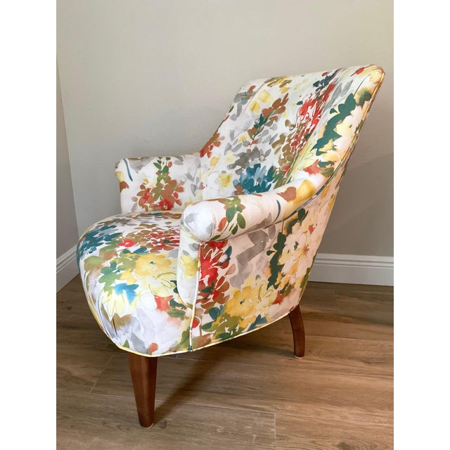 FLEUR UPHOLSTERED CHAIR IN PERKY GARDEN from Arhaus. Barely used and in excellent condition. Fun accent to any space.