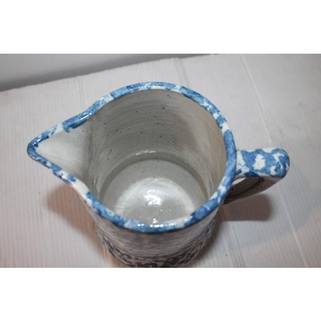 Country 19th Century Sponge Ware Pitcher from Pennsylvania For Sale - Image 3 of 5