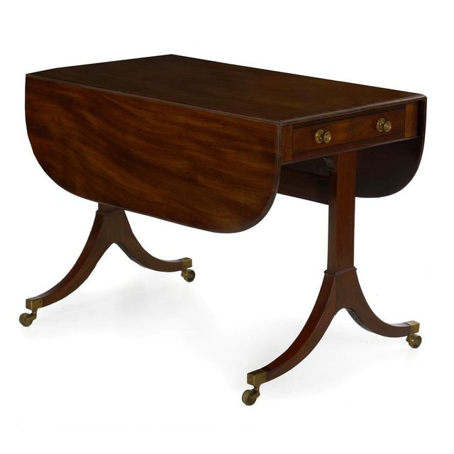19th Century English Regency Antique Mahogany Sofa Accent Table, Circa 1815 For Sale - Image 13 of 13