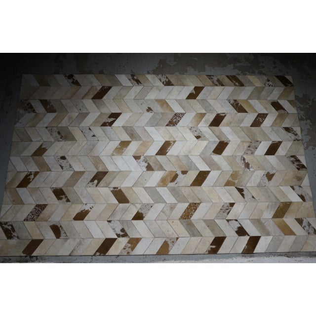 Contemporary Hair on Hide Rug - 5′ × 8′ - Image 5 of 5