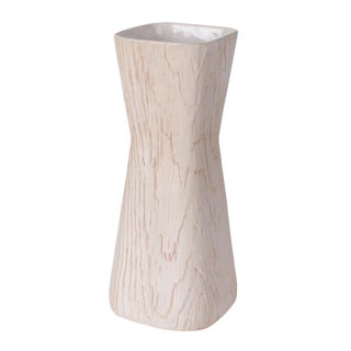 Vintage Mid-Century Shawnee Faux Bois Vase For Sale