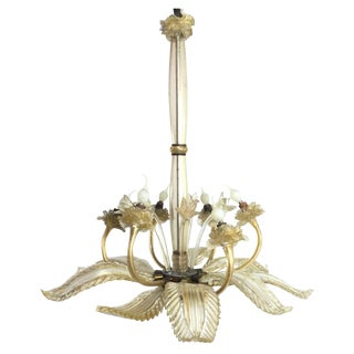 Barovier E Toso Leaf Form Chandelier For Sale