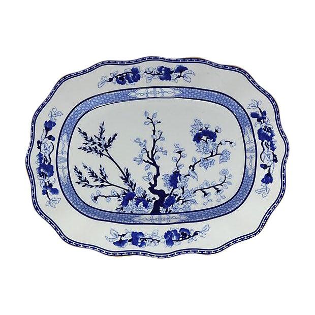 Vintage Coalport Blue Tree Platter For Sale