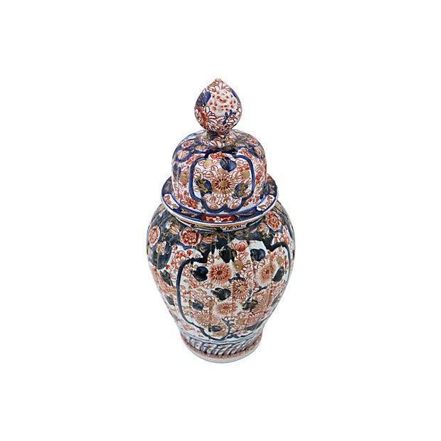 Asian Antique Imari Japanese Porcelain Urn For Sale - Image 3 of 5