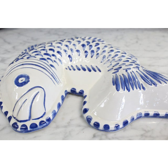 Decorative Ceramic Fish Mold/Platter For Sale - Image 4 of 5