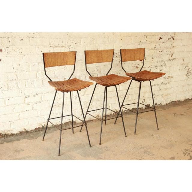 Arthur Umanoff for Raymor Mid-Century Modern Bar Stools - Set of 3 - Image 2 of 7