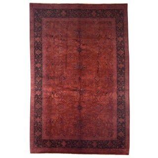 Vibrance Hand Knotted Red Wool Area Rug - 6' X 9'1""