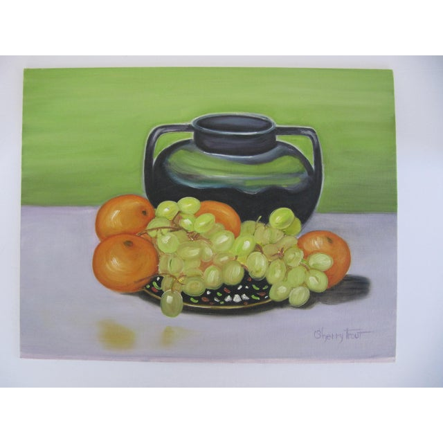 Vintage Still Life Painting of Fruit For Sale - Image 4 of 4