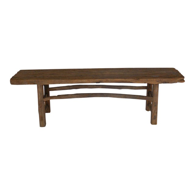 19th Century Elm Bench For Sale