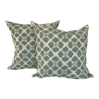 Galbraith & Paul Linen Pillows - A Pair For Sale