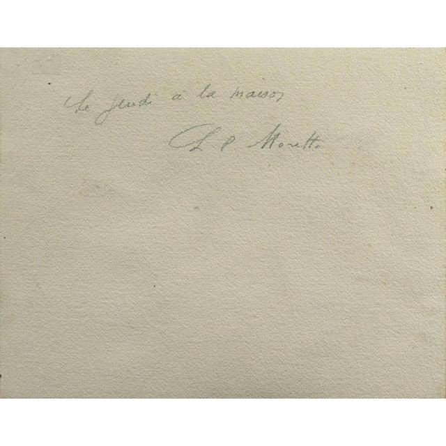 Peach 'Jeudi à La Maison' by Lucien Philippe Moretti, French Post-Impressionist, Ecole Des Beaux-Arts For Sale - Image 8 of 10