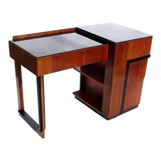 Streamlined Art Deco Desk With Expanding Top