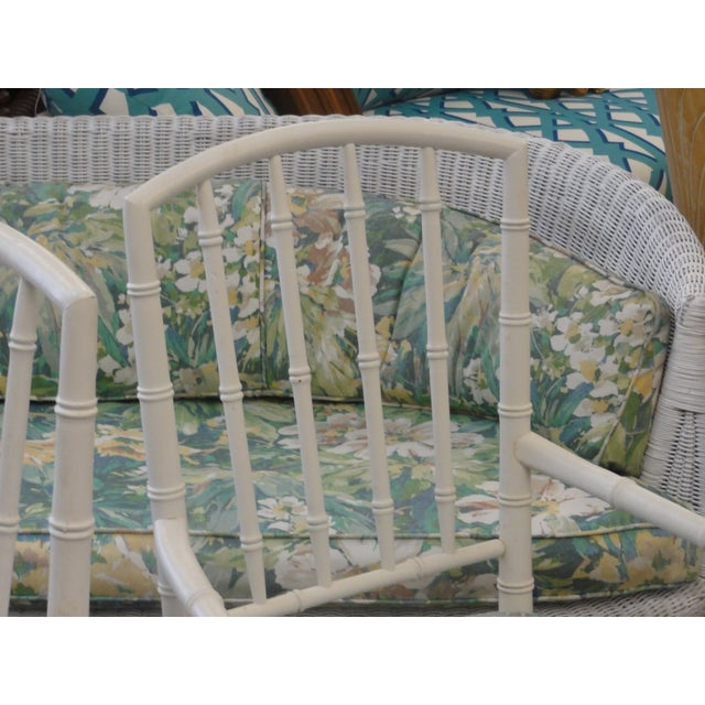 1970s Palm Beach Faux Bamboo Arm Chairs - a Pair For Sale - Image 5 of 10