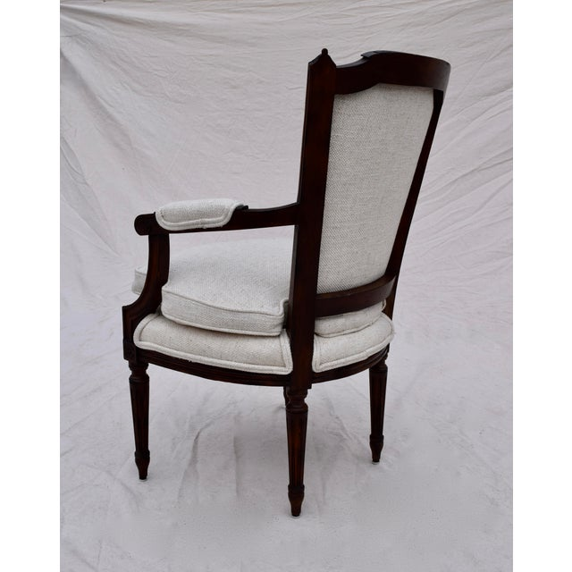 Louis XVI French Walnut Fauteuil Accent Chair For Sale - Image 9 of 13