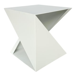 Darryl Carter for Baker White Geometric Fold Accent Table For Sale