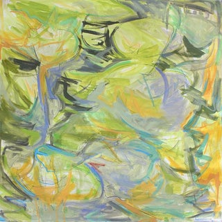 """Garden Pond"" by Trixie Pitts Abstract Oil Painting For Sale"