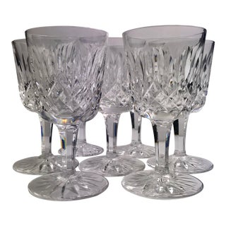 1950s Vintage Waterford Crystal Lismore Cocktail/Cordial Glasses - Set of 7 For Sale