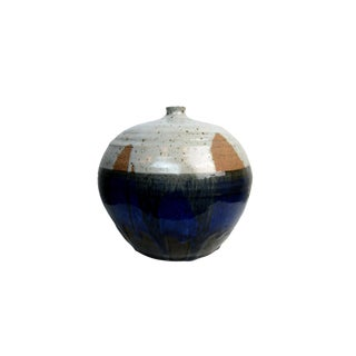 Signed Studio Pottery Drip Glaze Weedpot For Sale