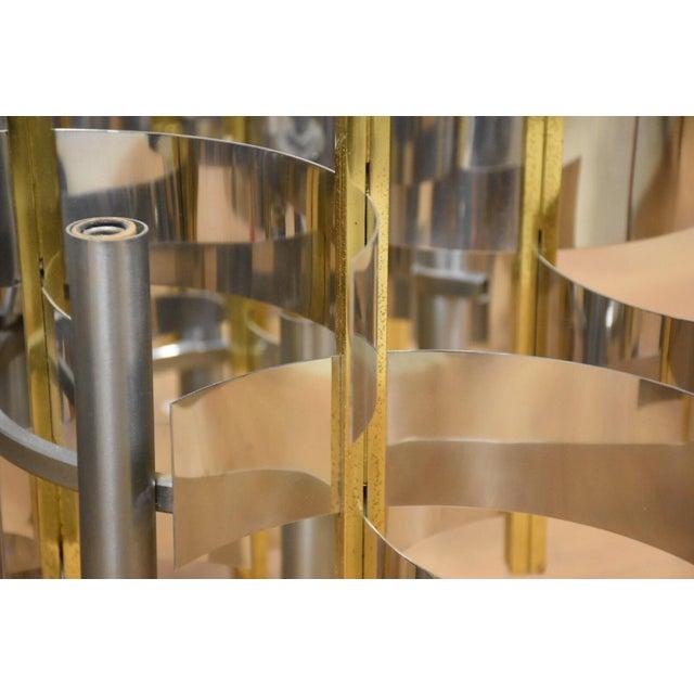 Gold Italian Gaetano Sciolari Chandelier For Sale - Image 8 of 8
