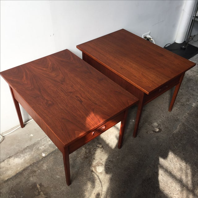 Teak Mid-Century Side Tables - Pair - Image 8 of 10