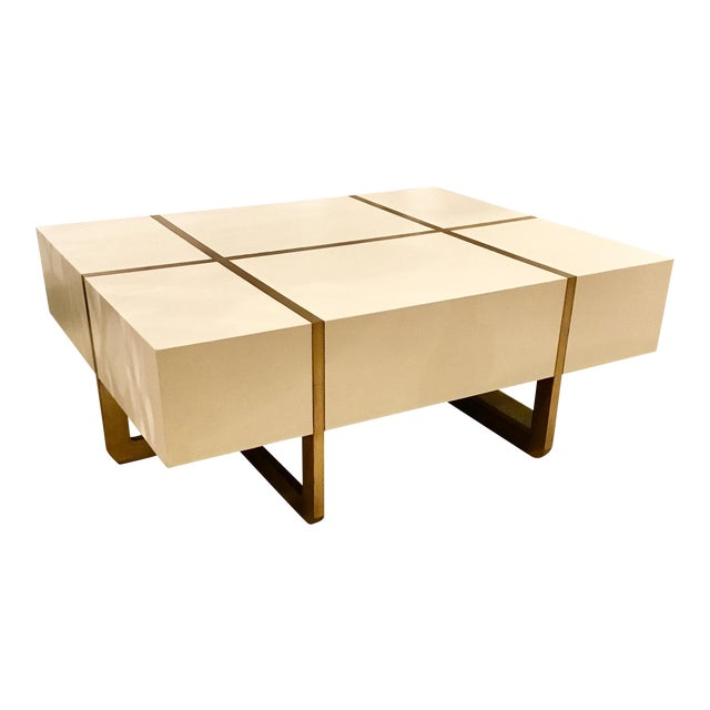 Maitland-Smith Ivory Cocktail Table - Image 1 of 7