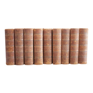 Antique Bancroft Works Leather Bound Books - Volumes 1-10 For Sale