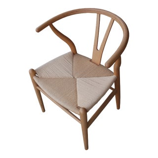 Pottery Barn Wishbone Style Dining Chairs For Sale