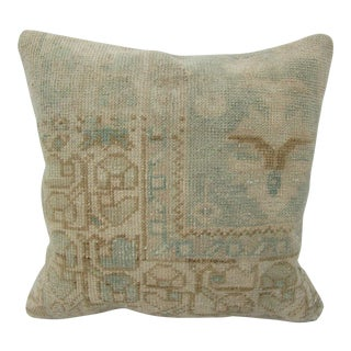 Vintage Turkish Faded Decorative Pillow Cover For Sale