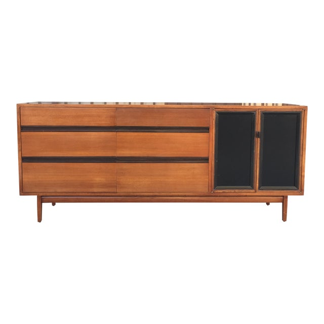 Mid Century Lowboy Dresser With Hidden Vanity by H.Paul Browning for Stanley Furniture Co. For Sale