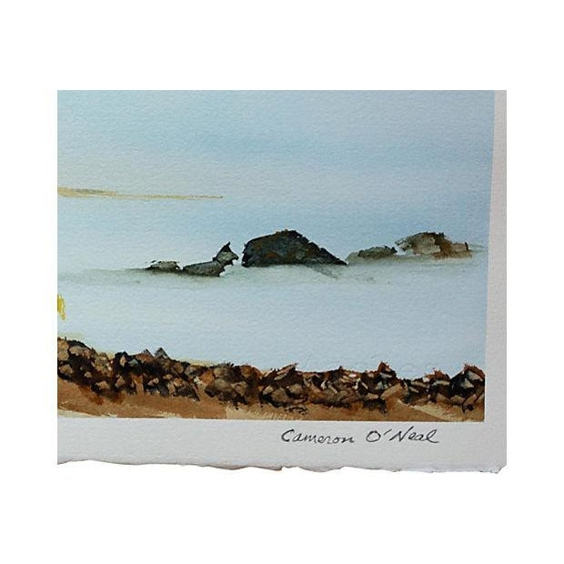 Bright, beautiful and detailed seascape watercolor by Canadian artist Cameron O'Neal. This is an original work of art that...