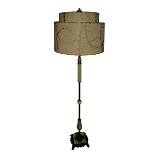 Art Deco Marble and Bronze Floor Lamp