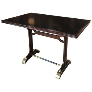 France Writing Table 1940s with Brass Feets