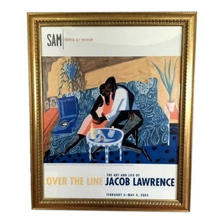 2003 Seattle Art Museum Jacob Lawrence Exhibition Poster, Framed For Sale