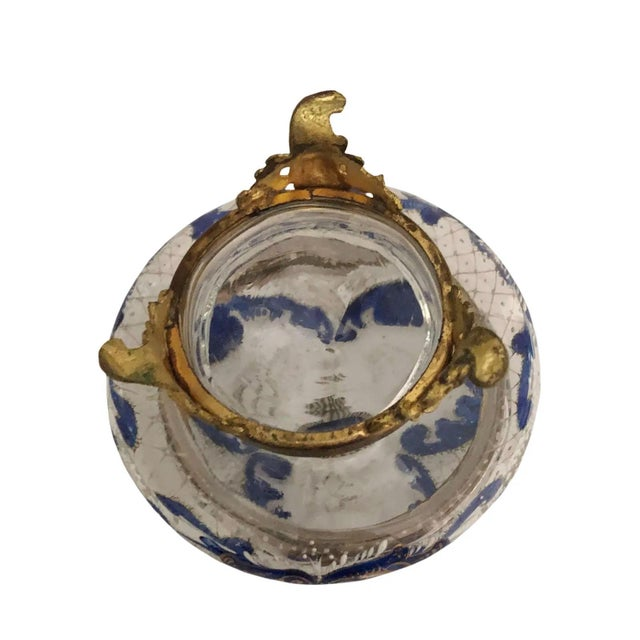 Early 20th Century Antique French Glass and Enamel Dresser Box For Sale - Image 5 of 7