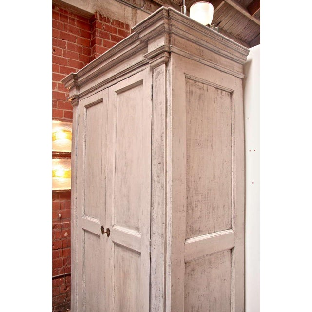 Italian 18th C. Oversized Distressed Armoire For Sale - Image 9 of 11