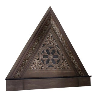 Pair of Triangular Italian Architectural Elements For Sale