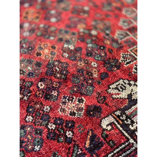 1940s Vintage Persian Qasghi Rug - 5′1″ × 7′10″ For Sale - Image 12 of 13