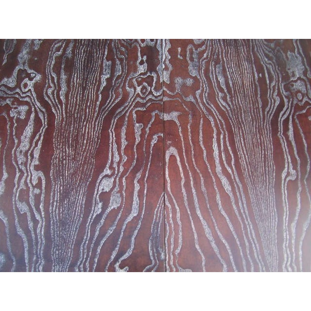 Paul Frankl Vintage Amber Cerused Dining Table - Image 6 of 7